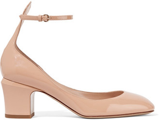 Valentino - Tango Patent-leather Pumps - Beige $845 thestylecure.com