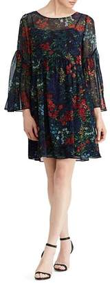 Ralph Lauren Petites Floral Georgette Dress