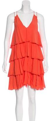 Apiece Apart Silk Ruffle Dress