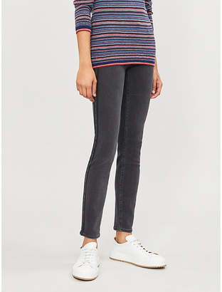 Paige Verdugo skinny mid-rise brushed-cotton jeans