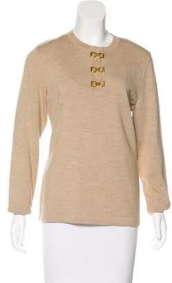 Salvatore Ferragamo Wool Long Sleeve Sweater