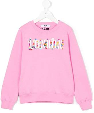 MSGM embellished London sweatshirt