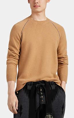Alanui Men's Cashmere Crewneck Sweater - Camel