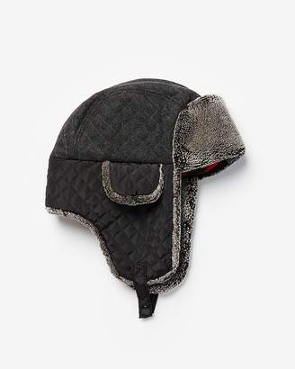 Express Quilted Sherpa Trapper Hat