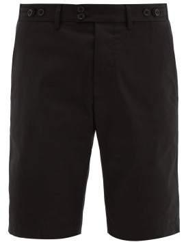 Dolce & Gabbana Tailored Stretch Cotton Gabardine Shorts - Mens - Black