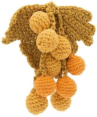 Rosie Assoulin knit grape earrings
