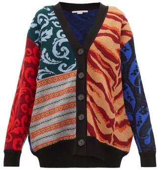 Stella McCartney Patchwork Knitted Wool Cardigan - Womens - Multi