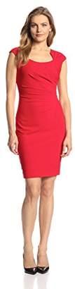Calvin Klein Women's Cap-Sleeve Side-Ruched Sheath Dress