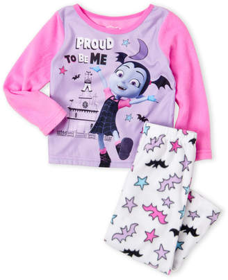 Disney Girls 4-16) Two-Piece Vampirina Fleece Pajama Set