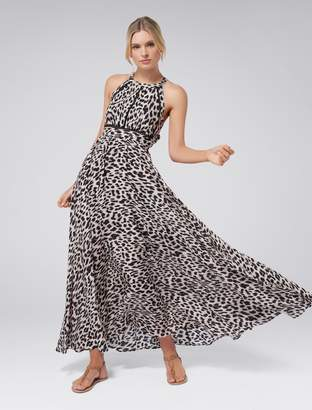 647ad110b62 Forever New Elka Lace Spliced Maxi Dress - Animal Print - 4