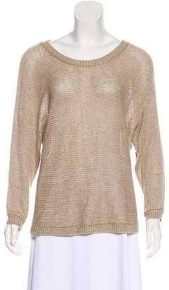 Joie Linen Scoop Neck Sweater