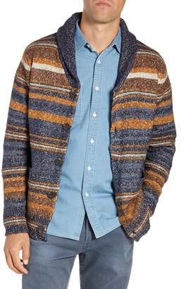 Schott NYC Stripe Cardigan Sweater