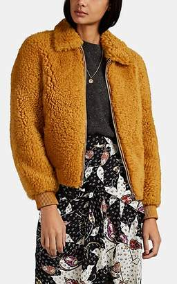 Isabel Marant Women's Salvia Shearling Bomber Jacket - Yellow