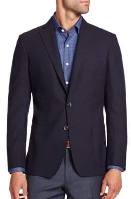 Saks Fifth Avenue COLLECTION Diamond-Weave Cotton & Wool Blazer