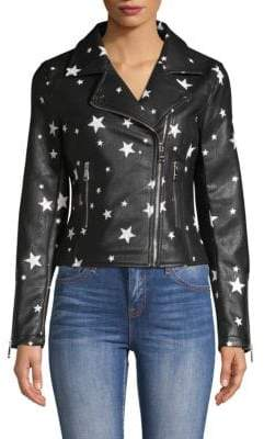 Vigoss Stars Faux Leather Jacket