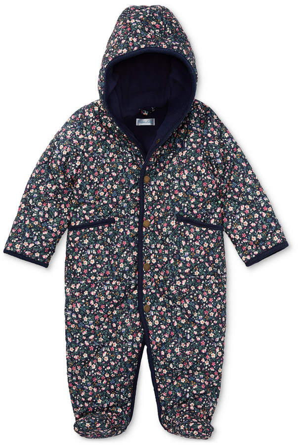 Polo Ralph Lauren Baby Girls Floral-Print Quilted Bunting