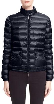 Women's Moncler 'Lans' Water Resistant Short Down Jacket $695 thestylecure.com