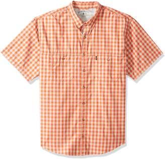G.H. Bass & Co. Men's Size Big Explorer Fancy Short Sleeve Button Down Shirt
