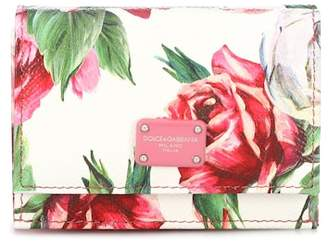 Dolce & Gabbana Floral leather wallet