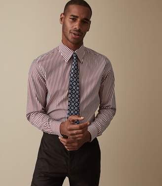 Reiss Our last order date for Christmas has now passed FIELD BENGAL STRIPED SHIRT Bordeaux