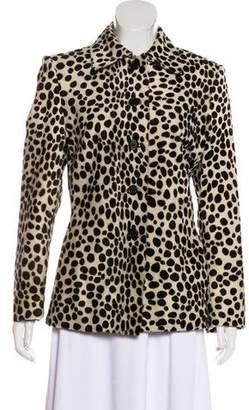 Prada Animal Print Ponyhair Coat