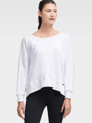 DKNY Oversized Sweatshirt With Back Cutout