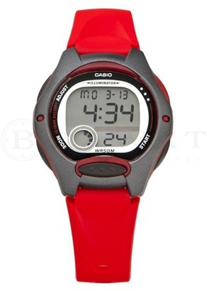 Casio Women's Casual Digital Watch, Red Resin Strap - LW200-4AV