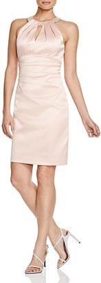 Eliza J Beaded Neck Satin Sheath Dress $158 thestylecure.com