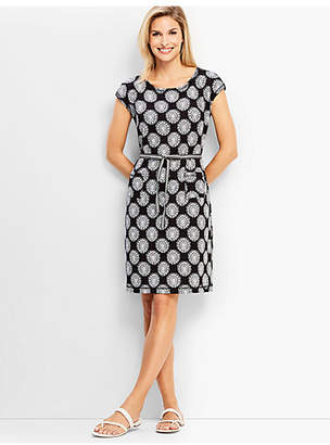 Talbots Flower Tile French Terry Dress