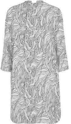 Marni Draped Printed Cotton-poplin Dress