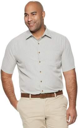 Croft & Barrow Big & Tall Classic-Fit Textured Microfiber Button-Down Shirt