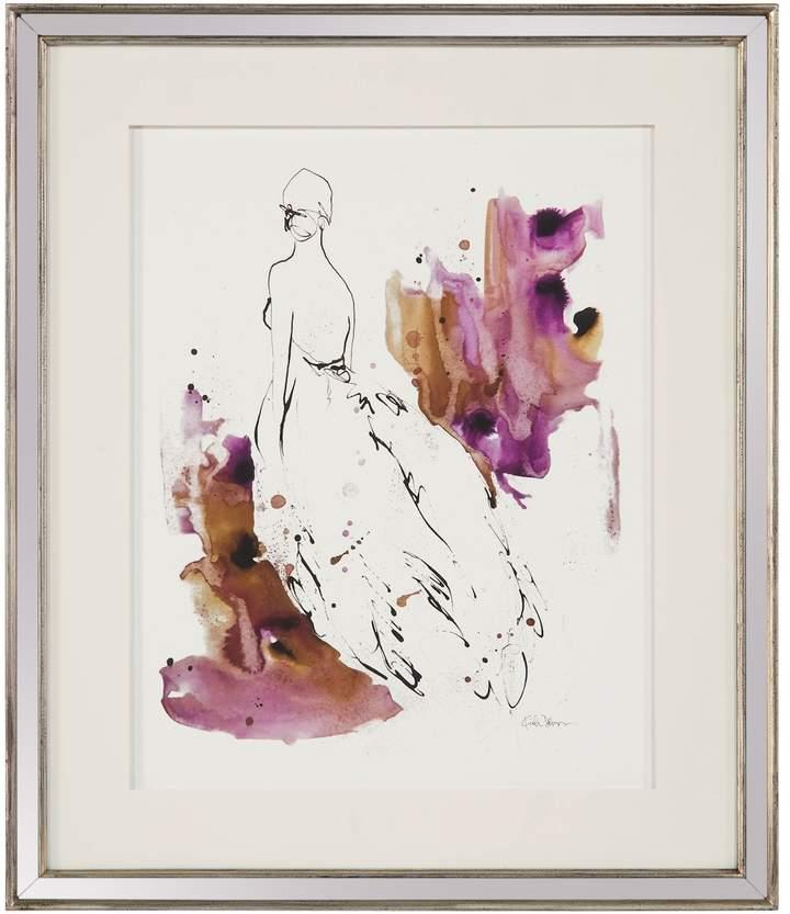 John Richard Lady In Violet I by Kian Denson (Framed)