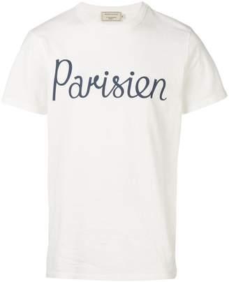 MAISON KITSUNÉ Parisien print T-shirt