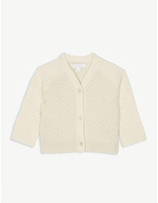 Burberry Rib-knit wool and cashmere cardigan 6-36 months