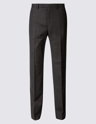 Marks and Spencer Textured Regular Fit Wool Trousers