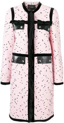 Giambattista Valli dotted single breasted coat