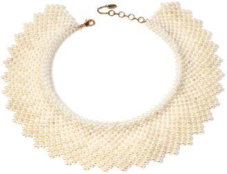 Amrita Singh Glass Pearl Collar Necklace