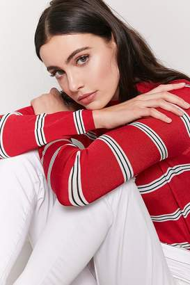 Forever 21 Stripe Sweater-Knit Top