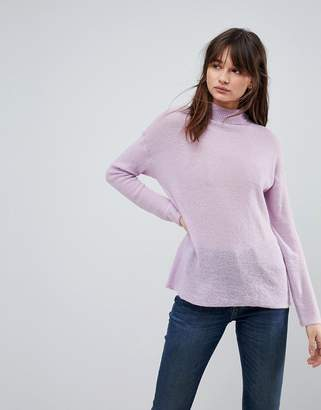 Asos DESIGN sweater with high neck in mohair blend