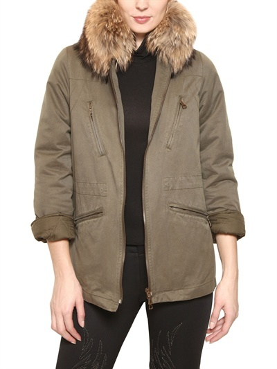 Army Fur - Coyote Collar Cotton Gabardine Parka