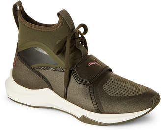 Puma Olive Night & Whisper Phenom Training Sneakers