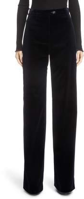 Acne Studios Wide Leg Velvet Pants