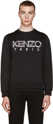 Kenzo Black Embroidered Logo Pullover $240 thestylecure.com