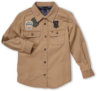 Tommy Hilfiger Newborn Boys) Jamison Long Sleeve Patch Sport Shirt