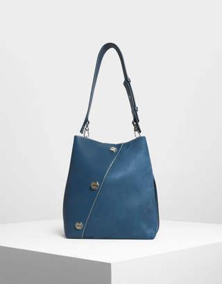 Charles & Keith Stud Detail Hobo Bag