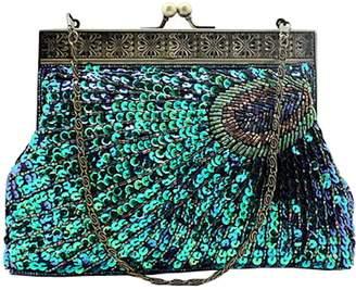 at Amazon Canada · niceEshop(TM) Women's Retro Exquisite Peacock Pattern Beaded Evening Party Wedding Handbag