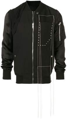Rick Owens stitch detailed bomber jacket
