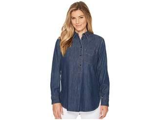 Lauren Ralph Lauren Long Sleeve Denim Shirt Women's T Shirt