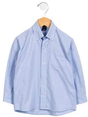Oscar de la Renta Boys' Solid Button-Up Shirt