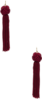Vanessa Mooney Astrid Knotted Tassel Earrings $40 thestylecure.com
